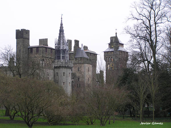 castillo de cardiff, vista exterior