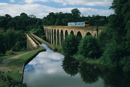 Cruzar el acueducto Pontcysyllte